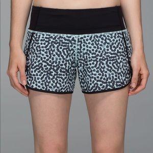 Lululemon Speed Shorts Ace Tranquil Blue Size 8